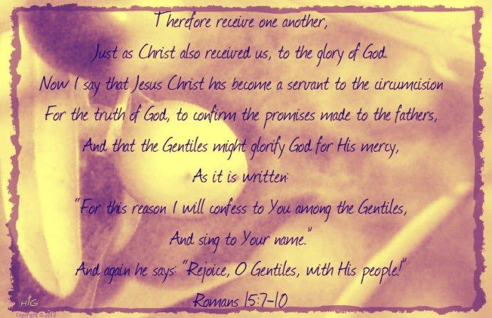 Romans 15-7-10